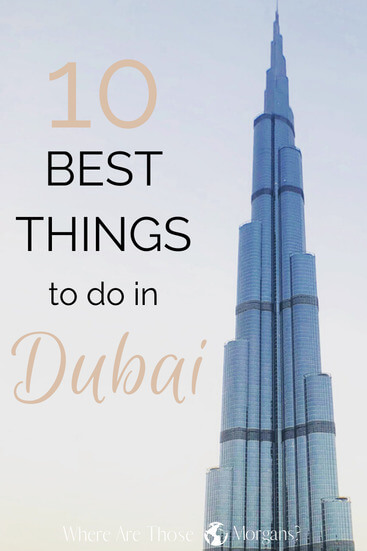 Dubai things to do pinterest graphic