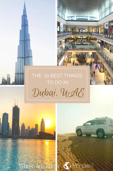 pinterest graphic things to do in Dubai