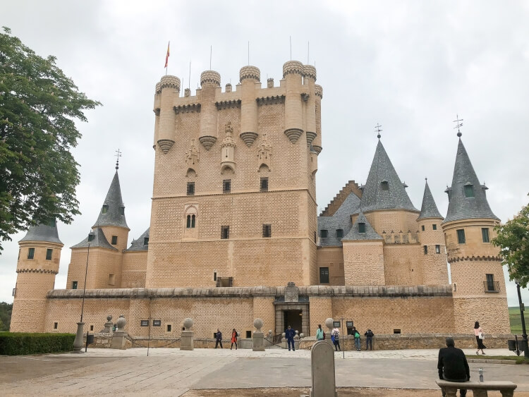 front view of the alcazar of Segovia