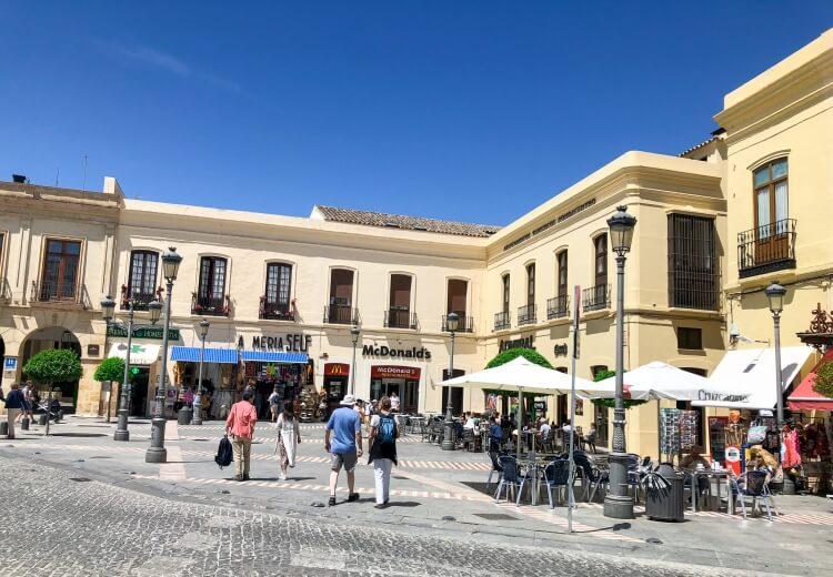 New town buildings in Ronda