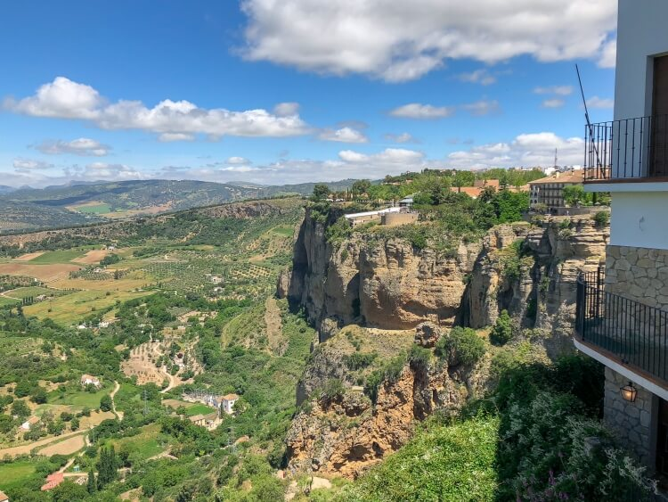 beautiful views overlooking the countryside in Ronda Spain
