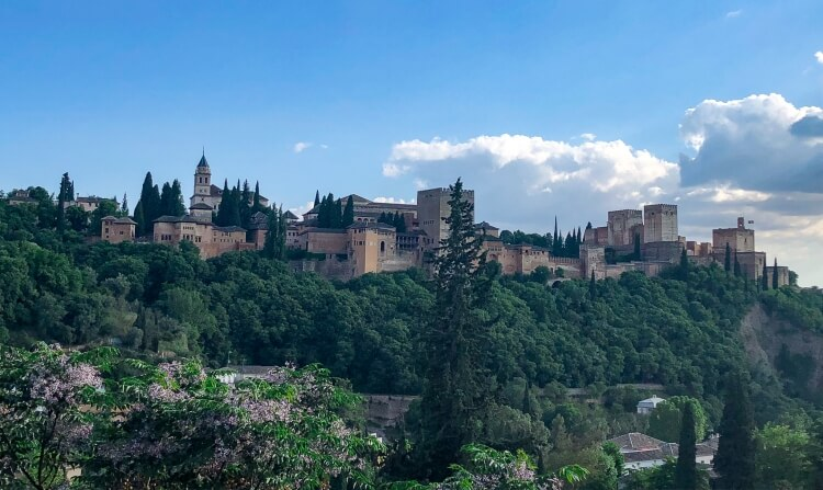 birds eye view of alhambra in granada