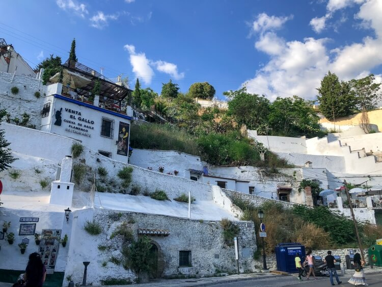 lots of white houses in Sacromonte