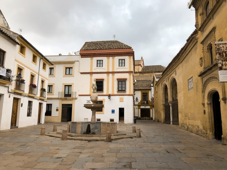 jewish quarter view with fountain