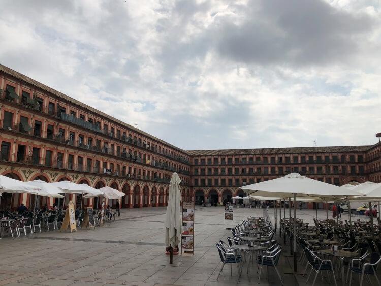 la plaza de la corredera in Cordoba Spain
