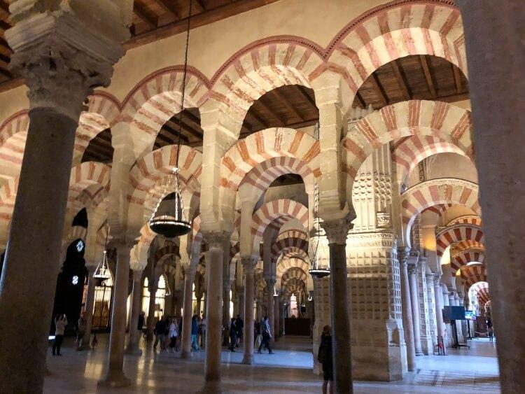more arches inside Mezquita in Cordoba