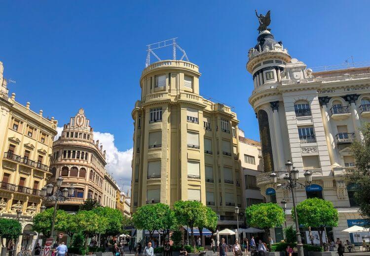 plaza de las tendillas in Cordoba Spain