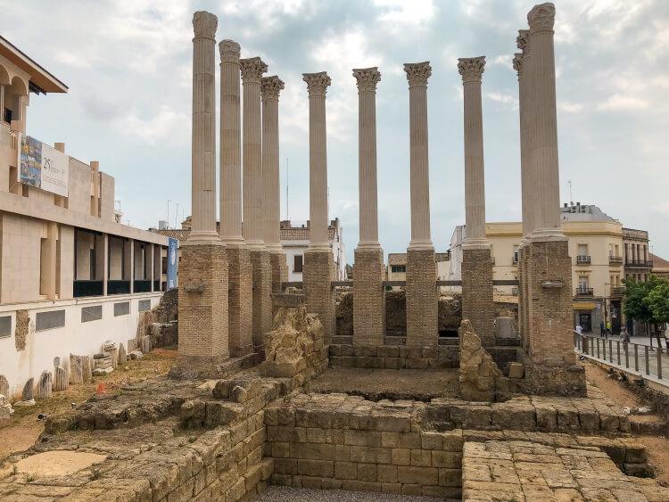 roman ruins in Cordoba Spain