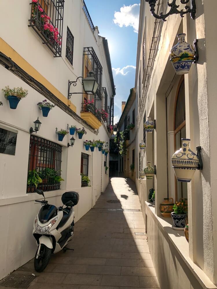 small street in Cordoba Spain