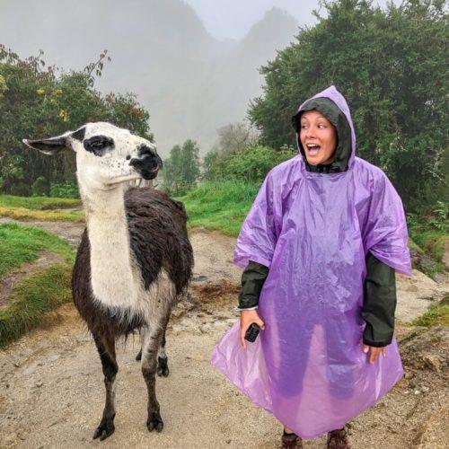 Kristen on Machu Picchu