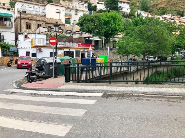 main bridge in Monachil Spain