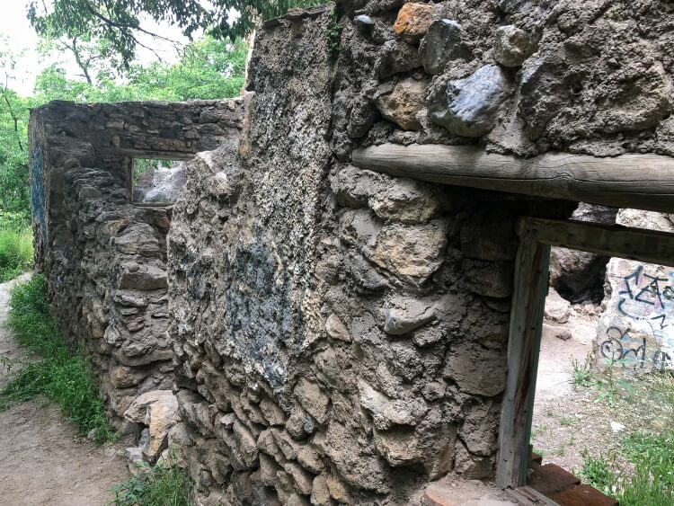 old rock and wood structure on los cahorros