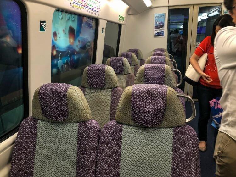 seats on the Hong Kong metro
