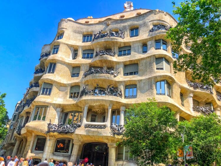 Front view of Casa Mila