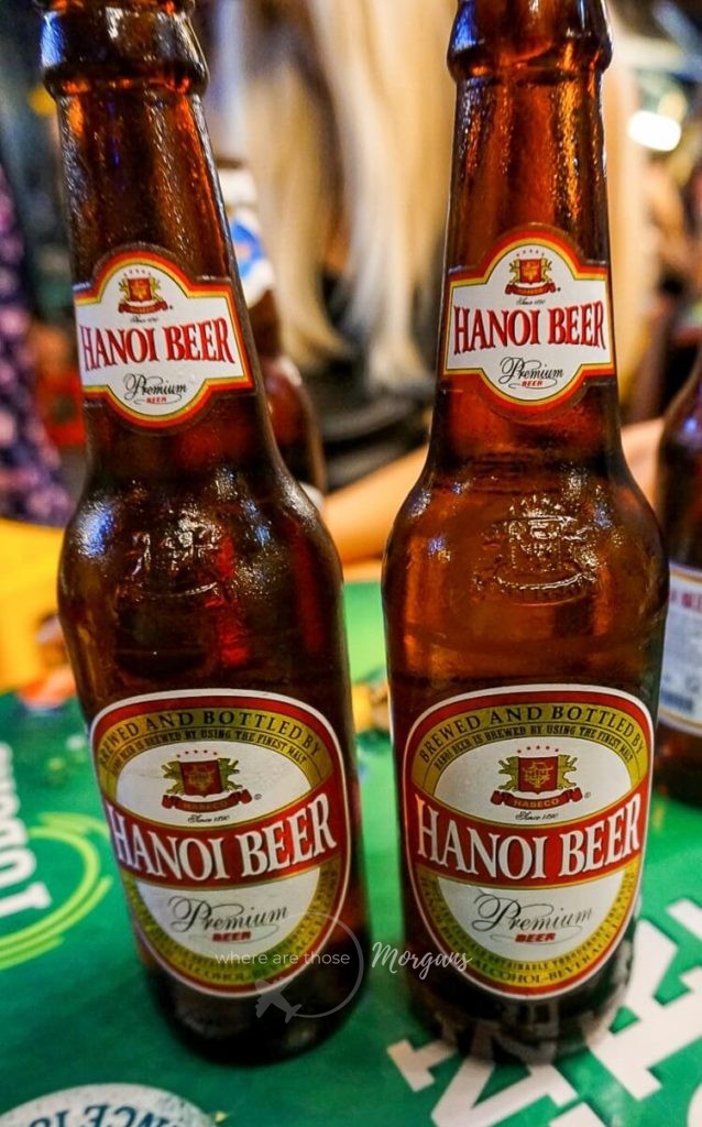 Bottles of beer in Hanoi Vietnam unhealthy travel