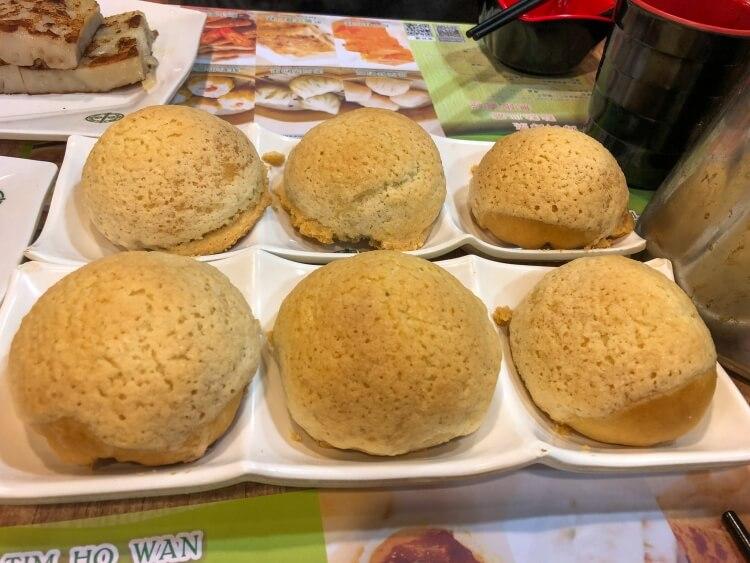 Delicious pork buns at Tim Ho Wan in Hong Kong