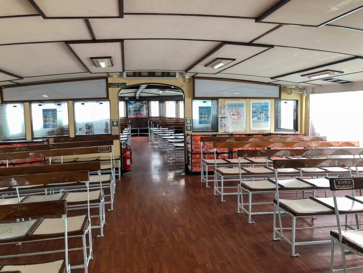 empty seats on the Star Ferry
