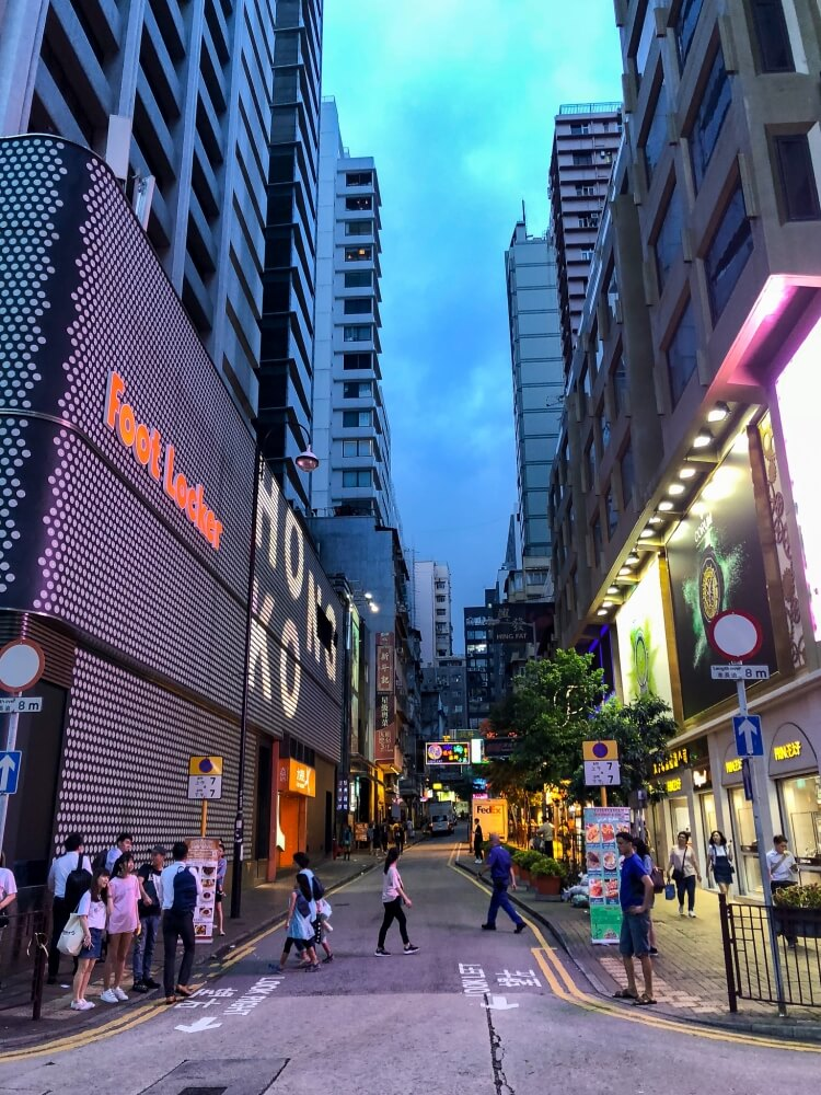 street signs in Tsim Sha Tsui in Hong Kong