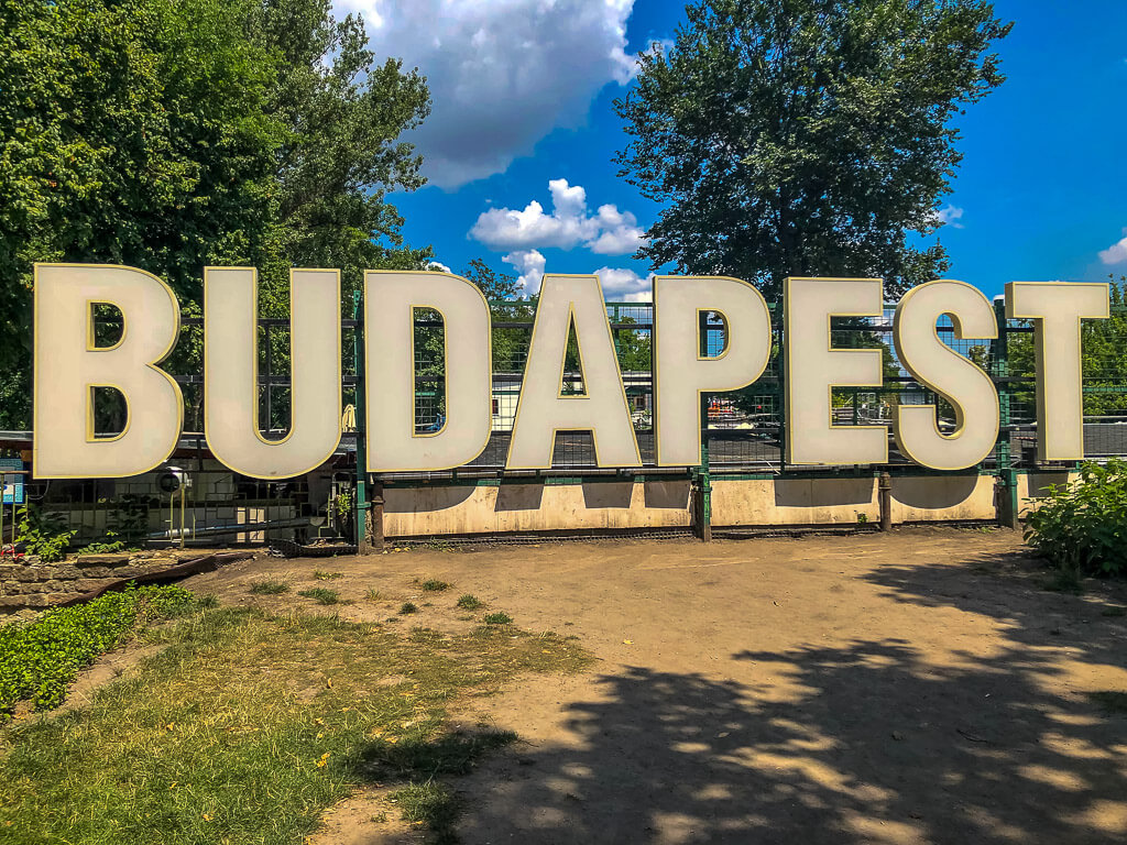 Budapest sign on Margaret Island 4 days Itinerary