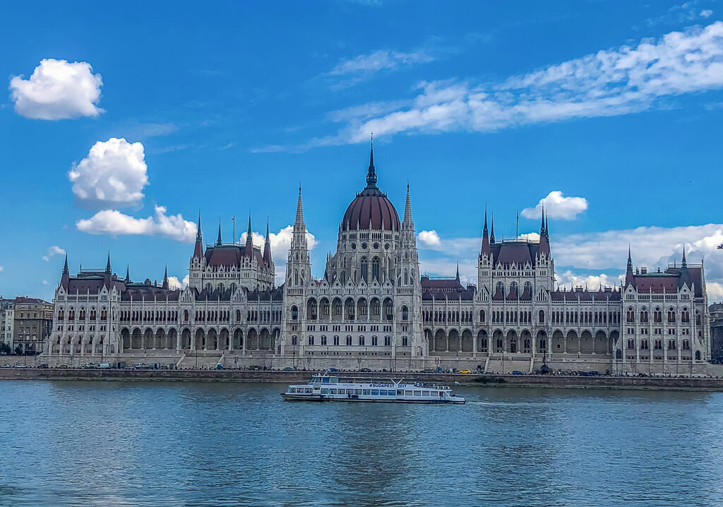 Hungarian Parliament along the River Danube