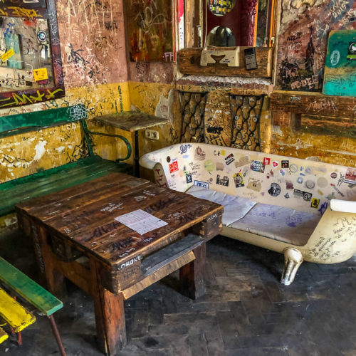 Funky furniture in Szimpla Kert