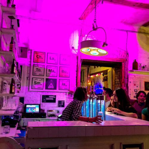 Ruin pub revelers drinking at Szimpla Kert bar