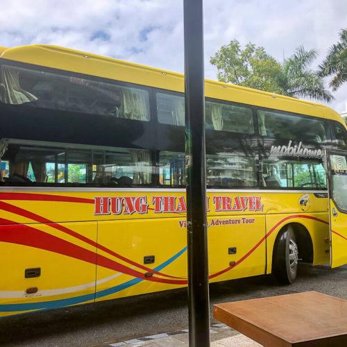 Phong Nha sleeper bus in Vietnam
