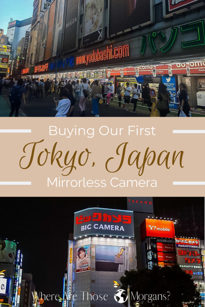 Pinterest Graphic for buying our first camera in tokyo