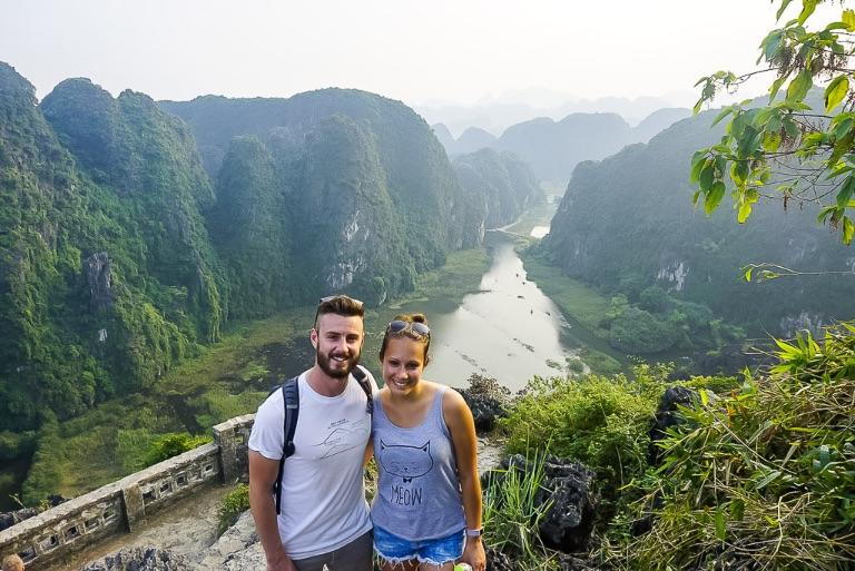 Mark and Kristen at mua cave viewpoint Ninh Binh itinerary