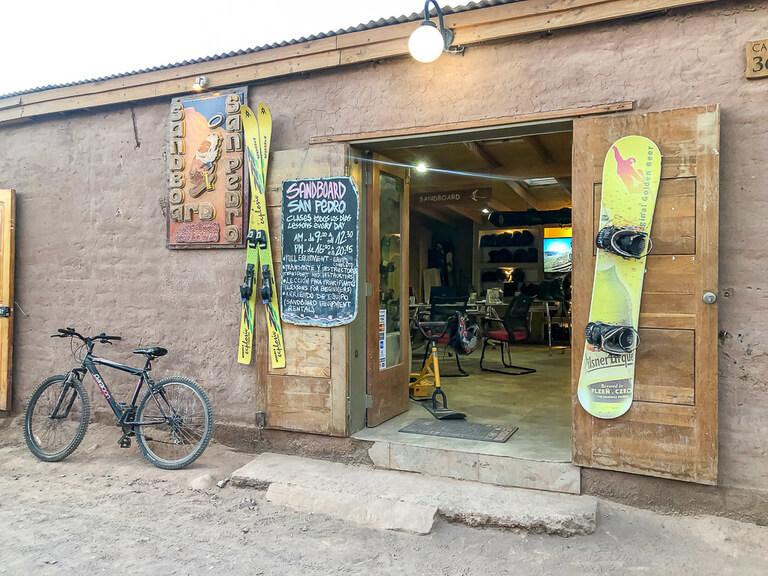sand board hire shop San Pedro de atacama