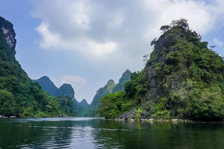 River view and limestone karsts on Ninh Binh itinerary