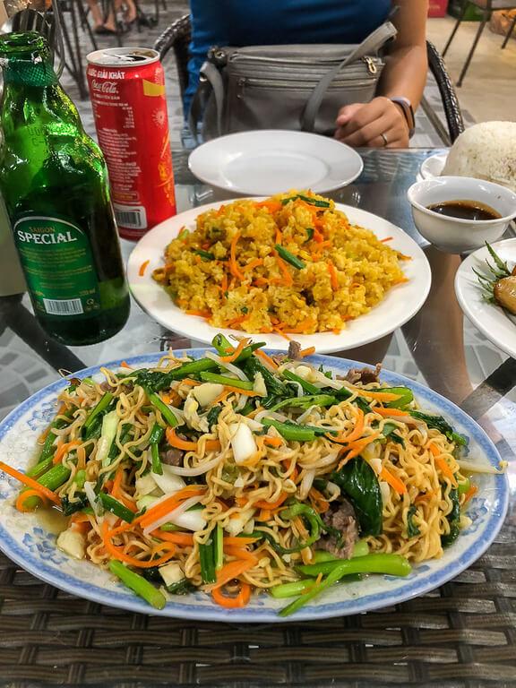 dinner in Ninh Binh Vietnamese noodles