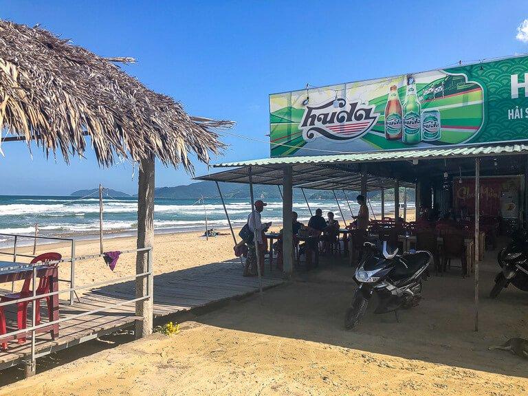 Beachside restaurant near Hai Van Pass Vietnam