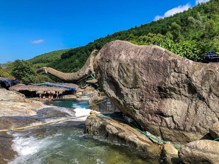 Rock shaped like an elephant between Hue and Hoi An
