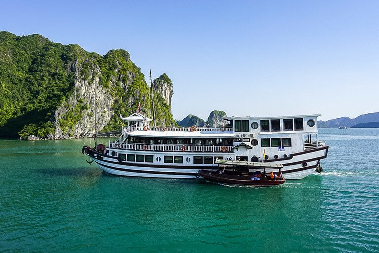 Halong Bay Cruise in emerald waters