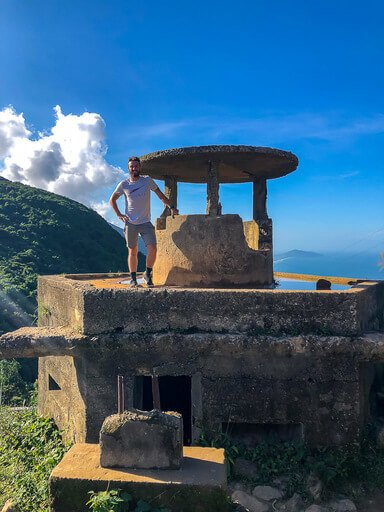 Mark stood on bunker between hue and Hoi An