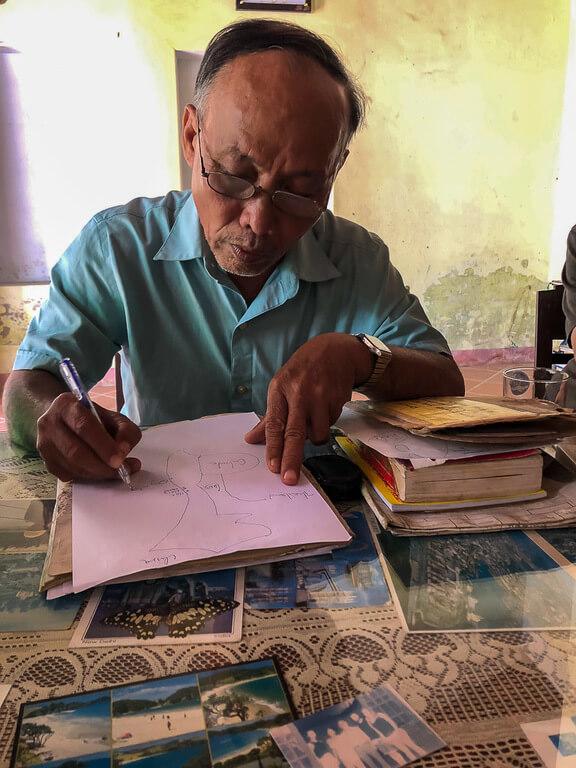 Vietnamese man Mr Phong vietnam war veteran private tour Hoi An itinerary