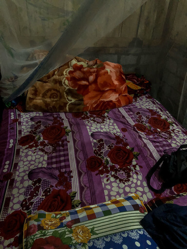 Bed in homestay trekking tour sapa vietnam