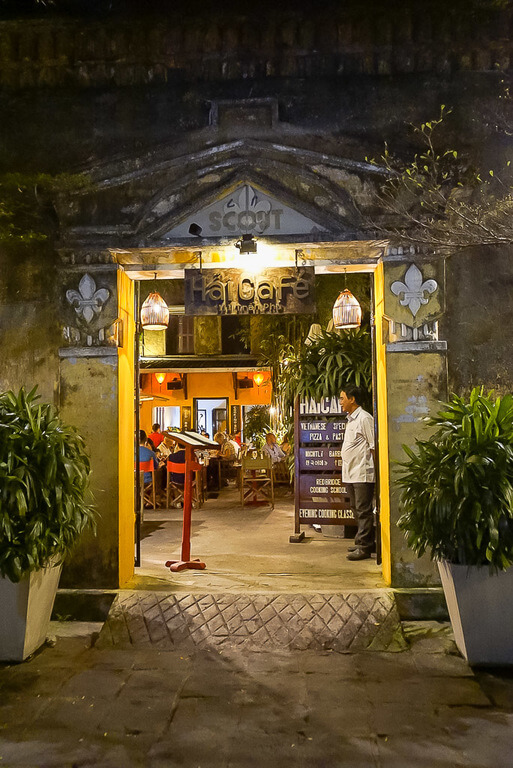 cooking class available at most restaurants in Hoi An vietnam entrance to restaurant