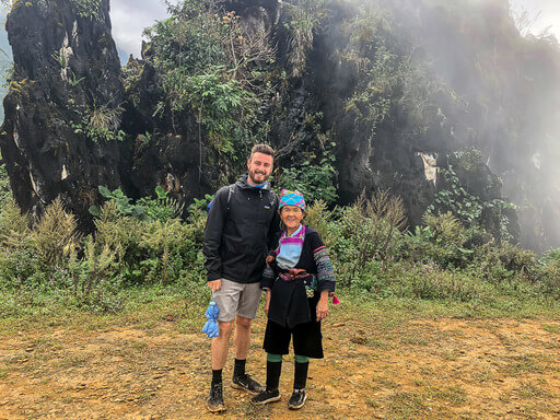 Mark and Hmong trekking guide in sapa vietnam