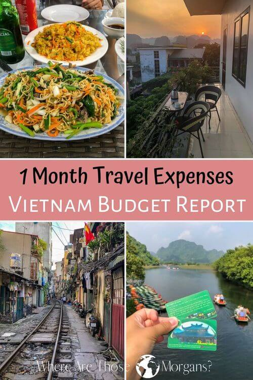 1 Month Travel Expenses Vietnam Budget Report