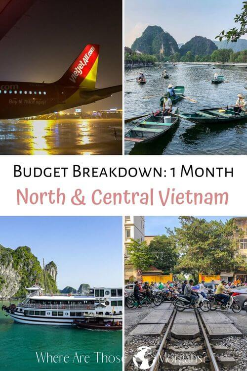 Budget Breakdown 1 month north and Central Vietnam