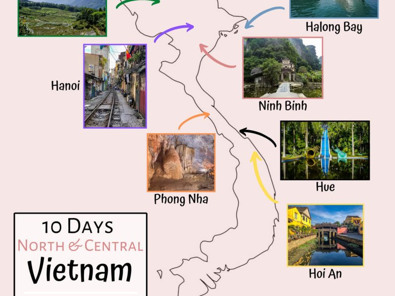 10 Day Vietnam Itinerary 3 examples north and center