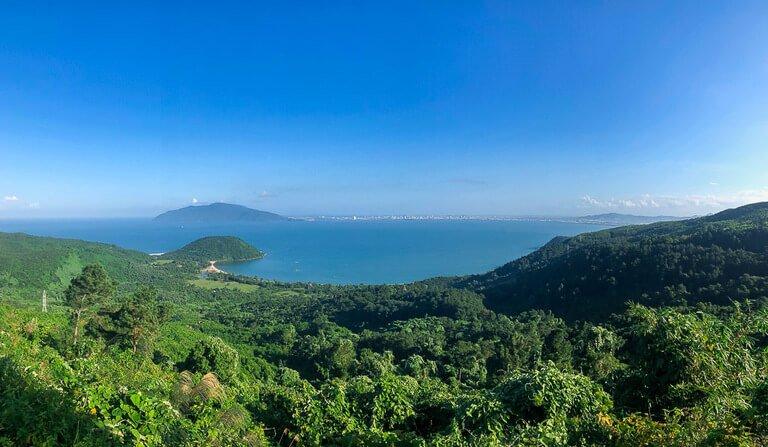 View of Da Nang from the top of Hai Van Pass