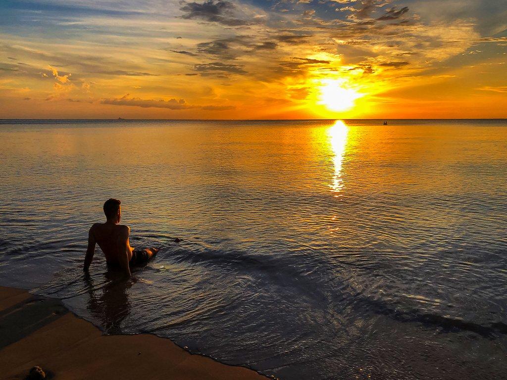 Mark in Koh Lanta thailand sunset at the beach
