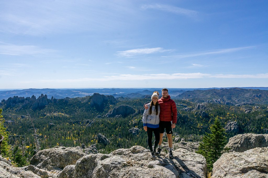 Mark and Kristen in Black Elk Peak