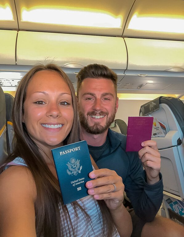 Mark and kristen on plane with passports keep photocopies things to know about vietnam