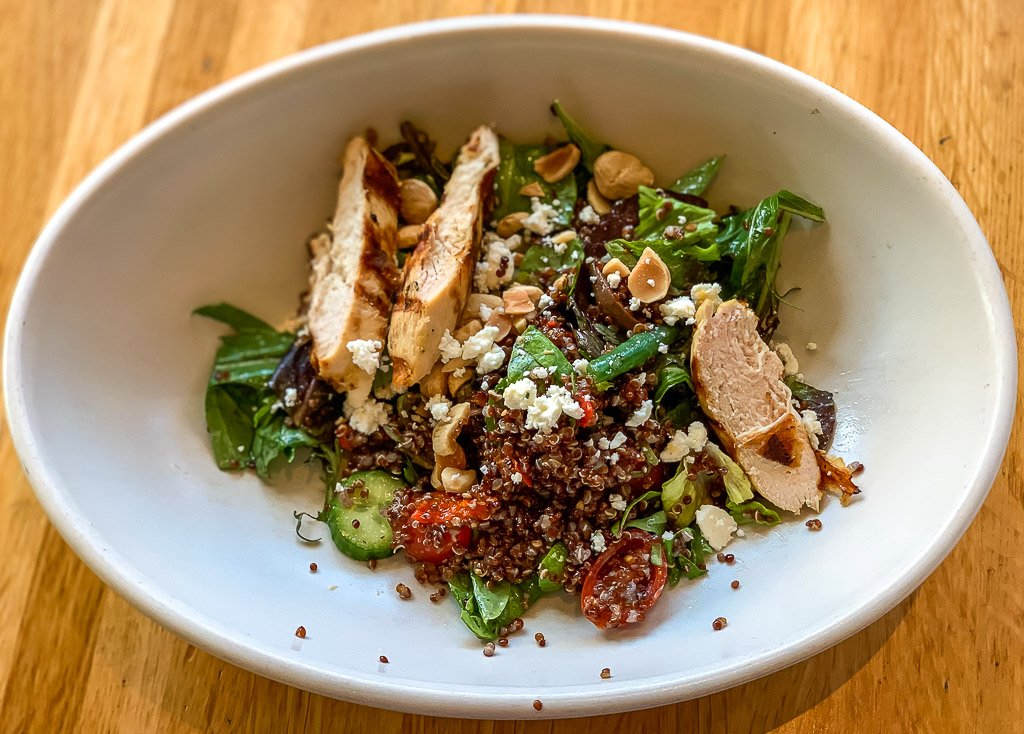 Healthy salad in Los Angeles physical wellness and travel