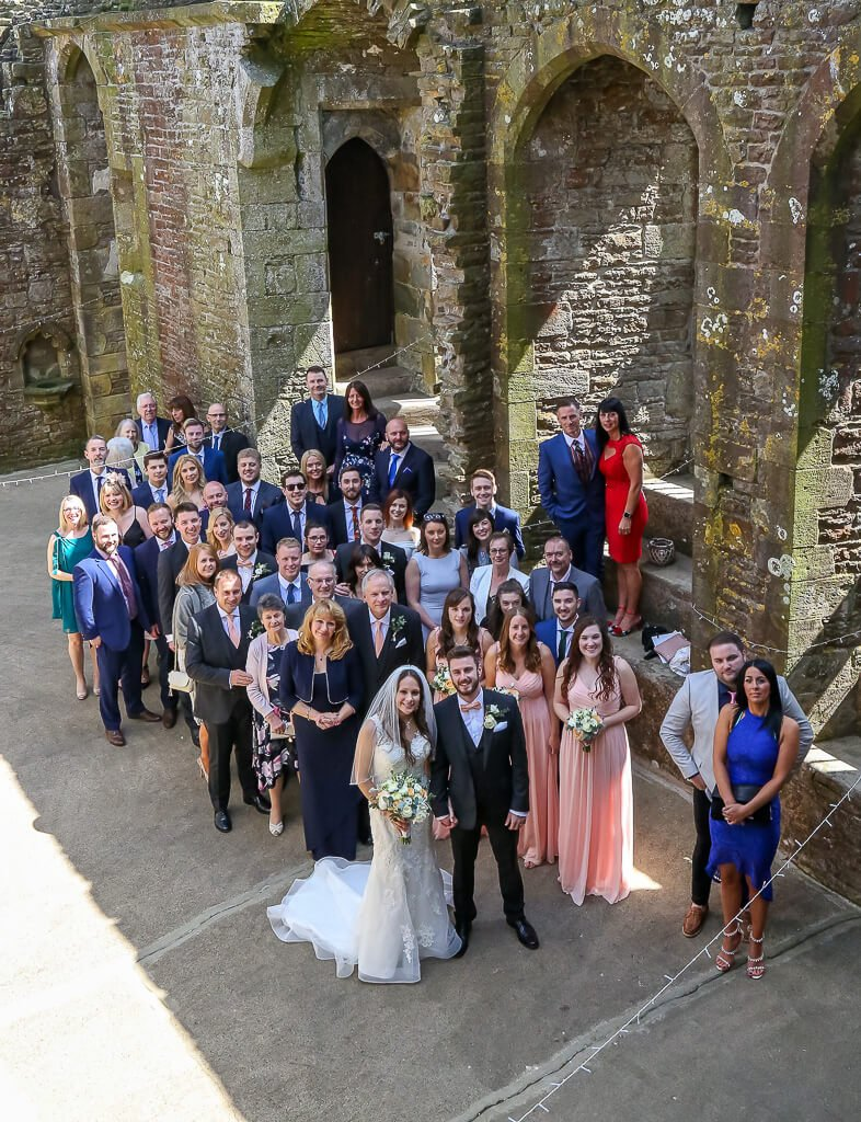 Mark and kristen wedding party bolton castle North Yorkshire