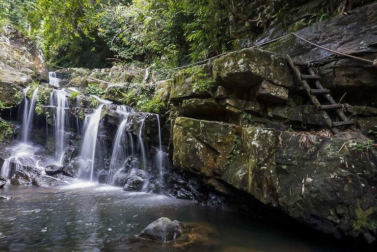 waterfall at Phong Nha botanic gardens fifth stop on 3 week vietnam itinerary